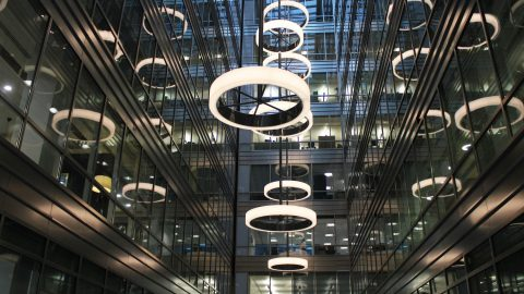 Broadgate Quarter | Bespoke Atrium Light Feature | The Light Lab
