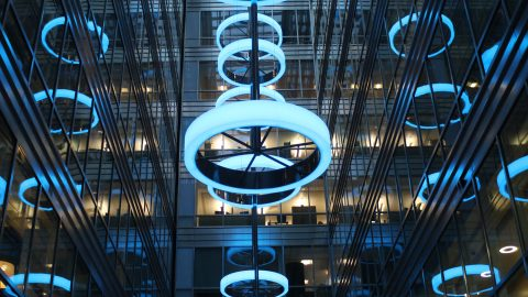 Broadgate Quarter | Bespoke Light Feature | The Light Lab