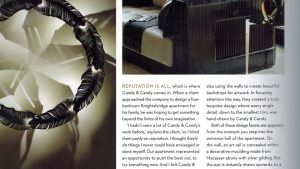 Bespoke lighting feature in Candy & Candy magazine