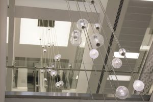 Bespoke Atrium Pendants, London | Commercial lighting | The Light Lab