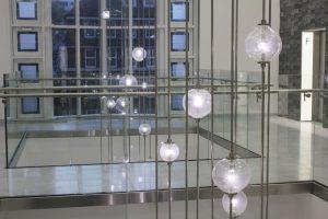 Bespoke Atrium Pendants, London | Commercial lighting | The Light Lab