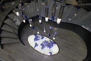 Jones Day | bespoke atrium pendants | The Light Lab