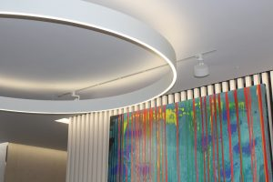 10 Dominion Street | commercial office lighting | circular glowline fitting | the light lab