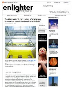 The Light Lab interview – Enlighter Magazine