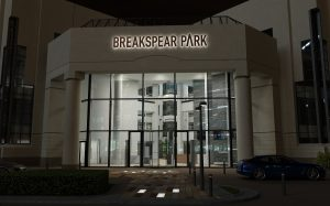 Breakspear Park | Exterior light tile fitting | The Light Lab
