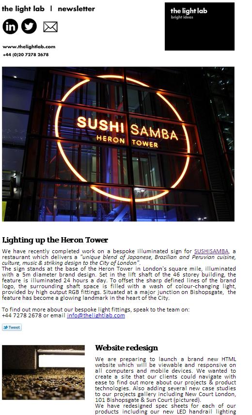 The Light Lab newsletter Feb 2013