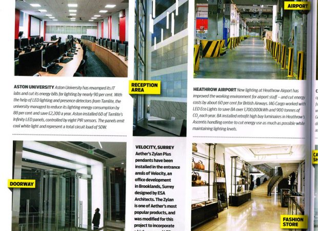 Bespoke Lighting Manufacture featured in Lux Magazine Sep 2013