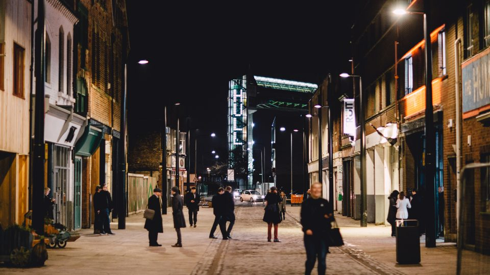 City Speaks, Hull Tidal barrier | Micheal Pinsky interactive installation | The Light Lab