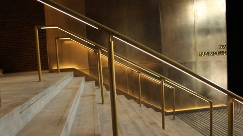 Jamestown Road | Bespoke lit handrail | The Light Lab