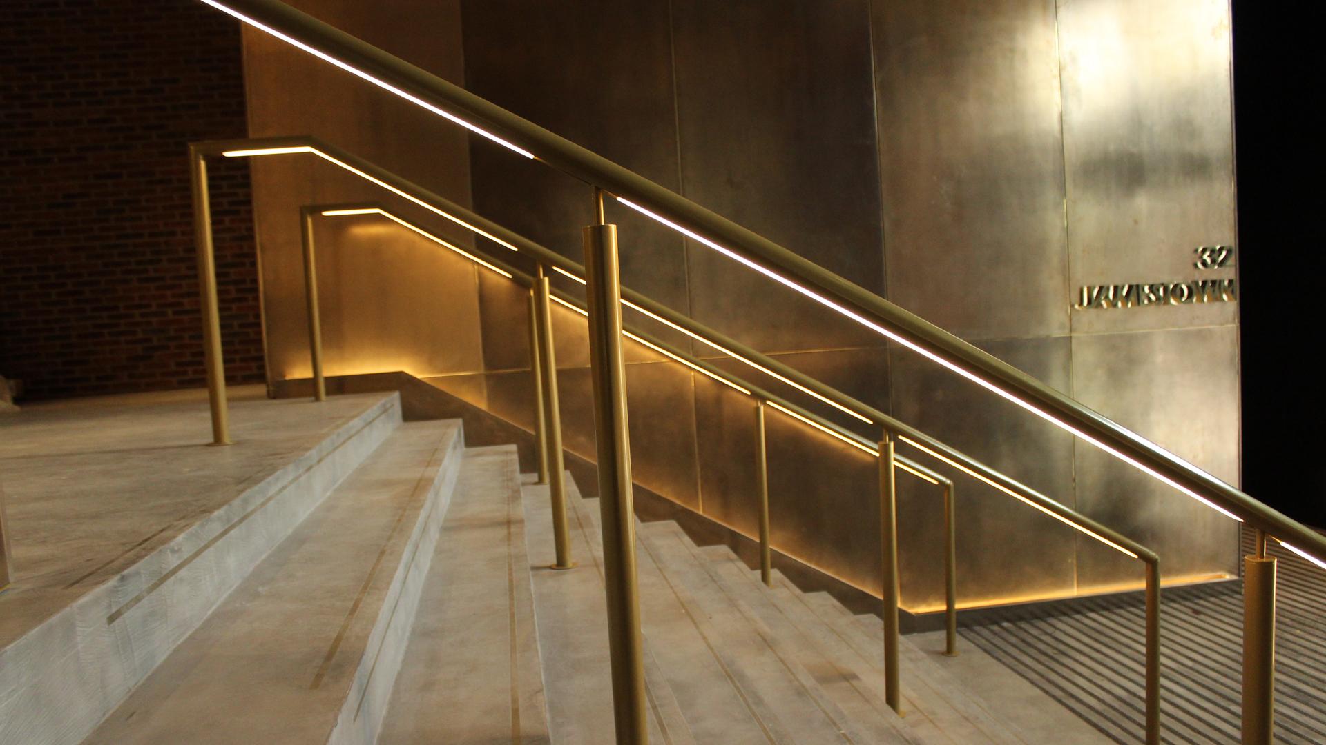 Jamestown Road | Bespoke lit handrail | The Light Lab