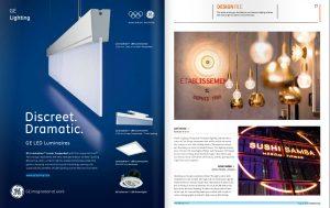SushiSamba-Bespoke lighting featured in Lighting Magazine