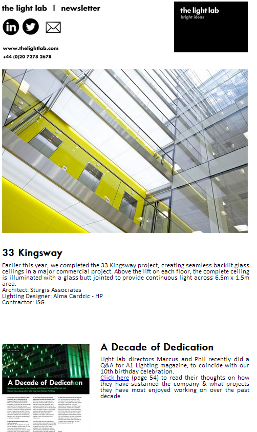 The Light Lab Newsletter October 2012