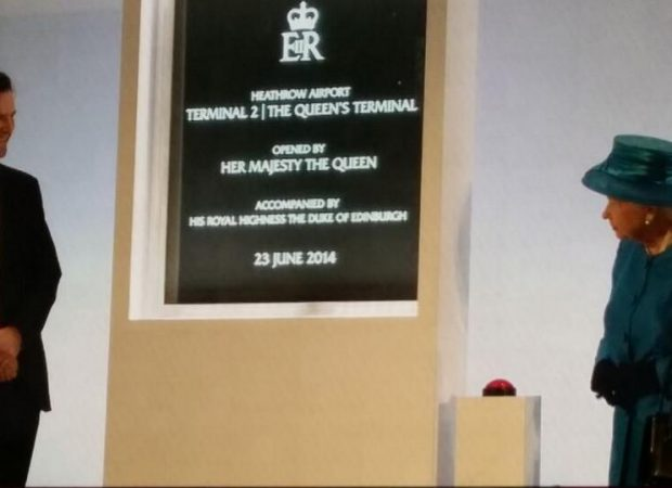 The Queen's Plaque at Heathrow Terminal 2 Royal Opening