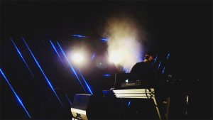 strip lighting in nightclub